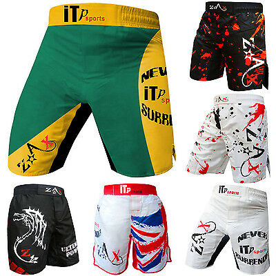 Grappling Fight Shorts MMA Gel Boxing Muay Thai Cage Fight Shorts MULTI DESIGN