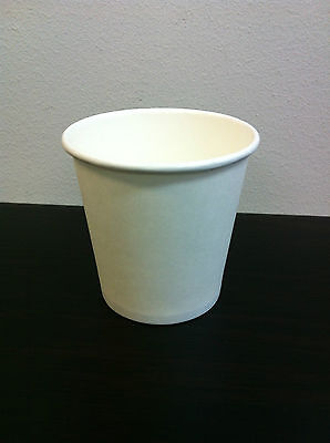 300Pcs 4 oz White Single wall disposable paper coffee cups CUP ONLYFree Postage