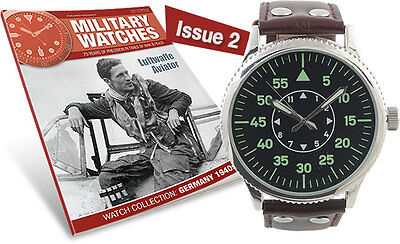 Military Watches Magazine Issue 2 Germany 40's Luftwaffe Aviator Watch Mag & wat