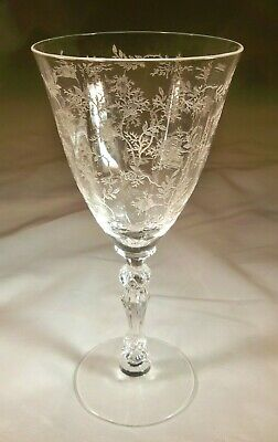 Fostoria Chintz Crystal #6026 9-Ounce Tall Water Goblet!