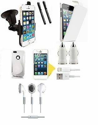 Mastersin tech - 8 in1 Accessory Pack For iPhone-5/5S White