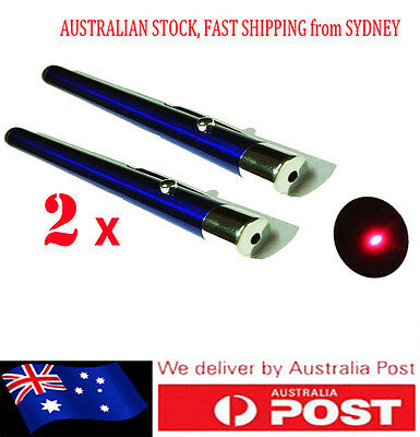 2x AU Fast Postag Powerful Red Light Pen Laser Pointer 1mw Red Light 650nm BLUE