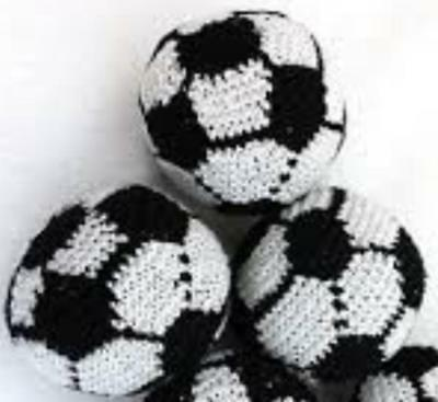 Pack of 3 Handmade Soccer Football Hacky Sacks Footbag Juggling Balls Magic