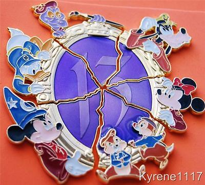WDW 13 REFLECTIONS OF EVIL PIN BOARD EXCLUSIVE MIRROR SHARDS COMPLETE SET 6
