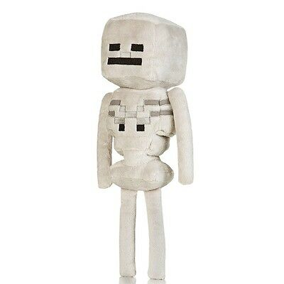Minecraft Skeleton 12in Plush White Toy Action Figure, Officially Licensed