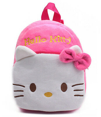 New Red Hello Kitty Backpack Child Preschool Bag Plush Schoolbag Candy Bag