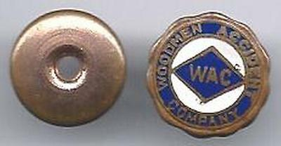 VINTAGE SCREW-BACK WAC LAPEL PIN - WOODMEN ACCIDENT COMPANY - EARLY 20TH CENTURY