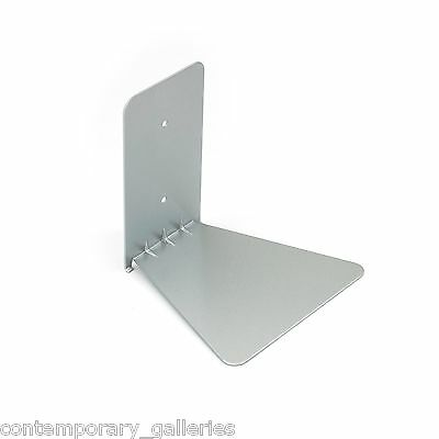 New Invisible Floating Conceal Silver Metal Book Shelf Wall Bracket Small Hide