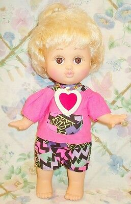 1990 Galoob Baby Face #4  Doll Loving Laura Blonde Hair Brown Eyes Excellent