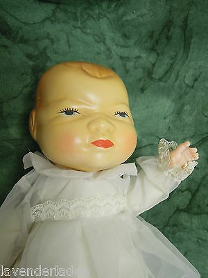 Bye-lo reproduction baby doll; 1994 molded hair, hard plastic (?) head,   nm-320