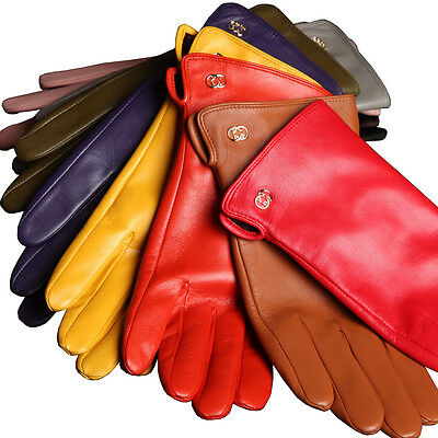 Ladies Woman Genuine Nappa Leather Dress Classic Gloves Many Color On Sale #L038