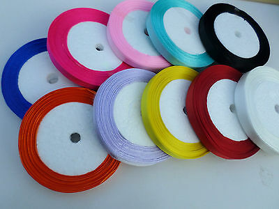Satin Ribbon - 10mm Width - 5m/10m/22m [Various Colours Available]