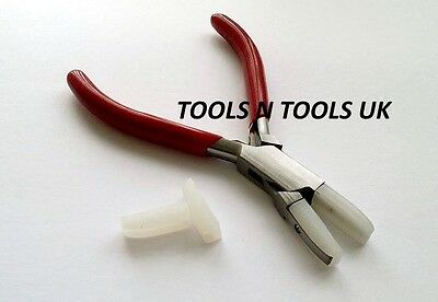 Quality Flat Nose Nylon Jaw Pliers Jewellery Bead Wire Work Tool With Extra Jaws