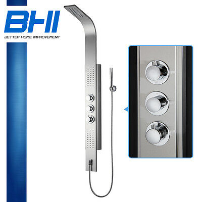 Bath stainless steel shower tower head spa panel with Thermostatic Control 8838T