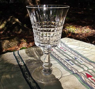 "TWO vintage Fostoria crystal stem glasses. Cut bowl. Pattern ""Revere"" stem 6023."