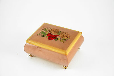 Sorrento Hand Inlaid Flowers Music Box - Music Box Attic - Pennies From Heaven