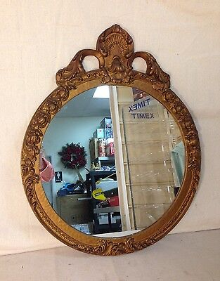 Antique Molded Round Mirror - Early 1900's