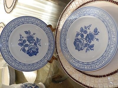 "3 JOHNSON BROTHERS ""CHELSEA ROSE"" BREAD DESSERT PLATES *MADE IN ENGLAND*"