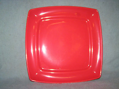 """Buffalo China Red Square Plate Route 66 GUC 11 1/4"""""""