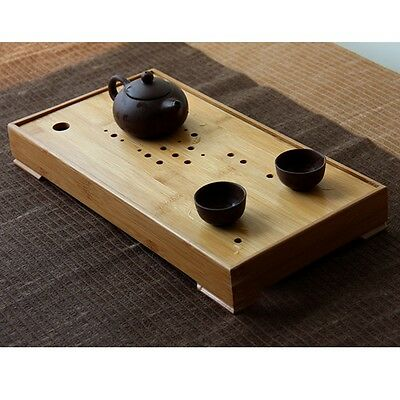 New Bamboo Gongfu Tea Tray Chinese Serving Table 37*19.5*5cm Medium Size Quality
