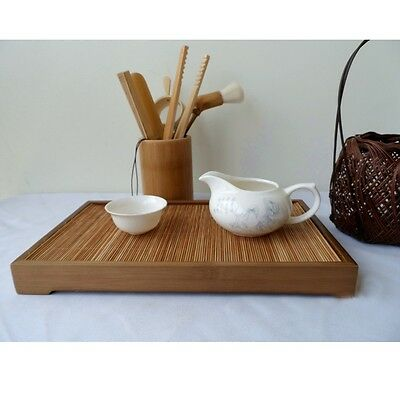 New Bamboo Gongfu Tea Tray Chinese Serving Table 26*15*3cm Mini Size Quality