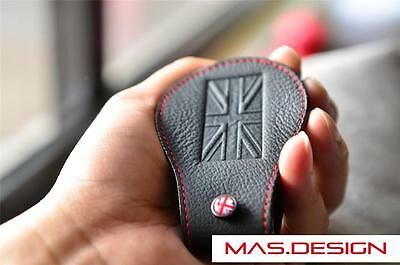 Black with Red Stitch key Case for 2007-2013 BMW MINI Cooper Clubman S SD JCW