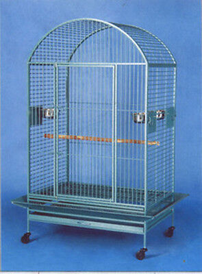 """Large Bird Cage Parrot Cages Macaw Dometop 36""""x26""""x65"""" Green Vein-858"""