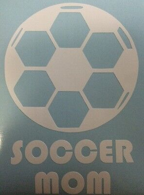 """Soccer Mom Vinyl Decal  5"""" W x 7"""" H  Looks Great on your rear window or anywhere"""