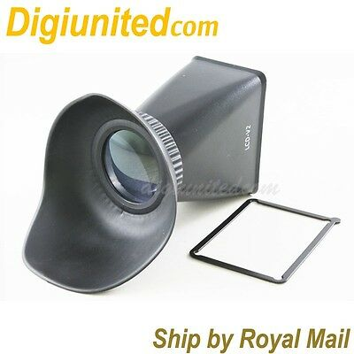 """3"""" LCD Viewfinder Extender 2.8x 3:2 for Canon EOS 550D DSLR camera LCD screen"""