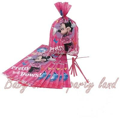 16 Minnie Mouse Birthday Favor Treat Goody Gift Pinata Bags Party Supplies Decor