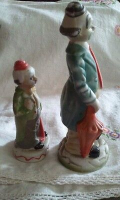 Vintage Collectibles Clown Father and Son Set of porcelain figurines