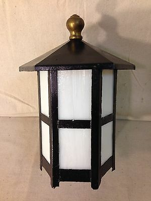 Vintage Early 1900's Arts And Crafts/art Deco Style Outdoor Porch Lamp