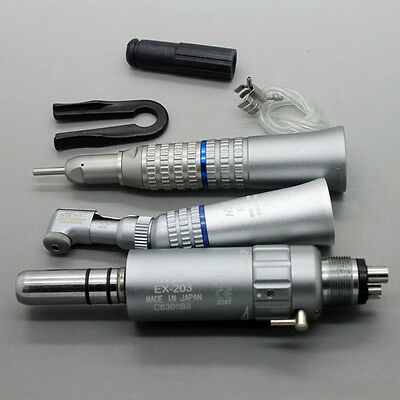 1 Set NSK Low Speed Handpiece Contra Angle Air Motor EX-203 Kit 4Holes/M4S