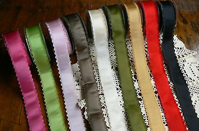 Satin Scalloped Picot Edge Ribbon 9 colours 40mmWide 3 metre + other lengths LR7