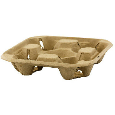 10 4 Cup Cardboard Holder Tray Hot Cold Drink Carrier Biodegradable Take Away Trays