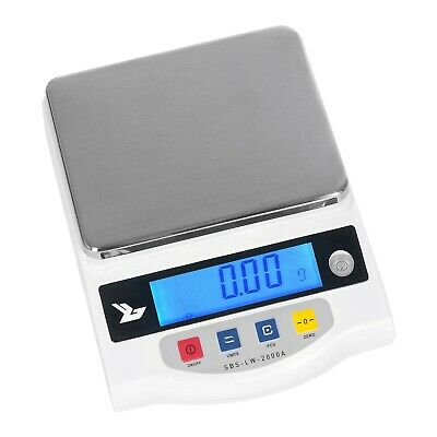 PRECISION SCALE - 2000g / 0,01g LABORATORY DIGITAL ELECTRONIC WEIGHING BALANCE