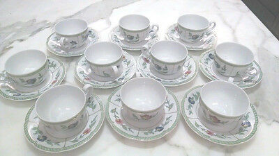 Set of 10 - Heinrich Villeroy & Boch Indian Summer China Cup and Saucer