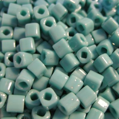50/100 grams Green Turquoise Opaque Toho Cube Beads 4mm - No. 55