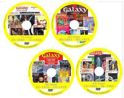 Galaxy Sci Fi Magazine 253 issues Science Fiction on 4 DVDs
