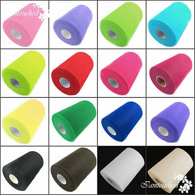 "6"" 100 Yds Tutu Tulle Roll Spool Gift Wrap Craft Fabric Wedding Party Decoration"