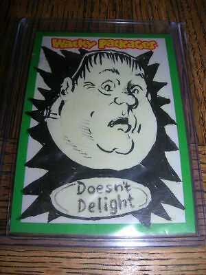 2013 Topps Wacky Packages Series 10 Doesn't Delight Sketch Card 1/1