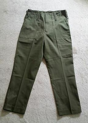 Lightweight Green Army Trousers - Olive - Used - British Army Barracks Trousers