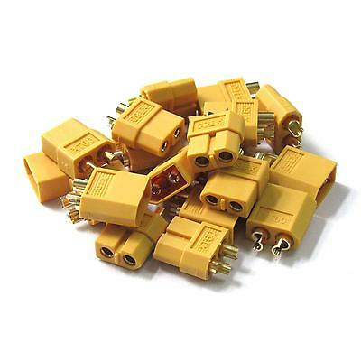 10 pairs XT60 Gold Connector Plug Male / Female for RC Battery ESC 20pcs
