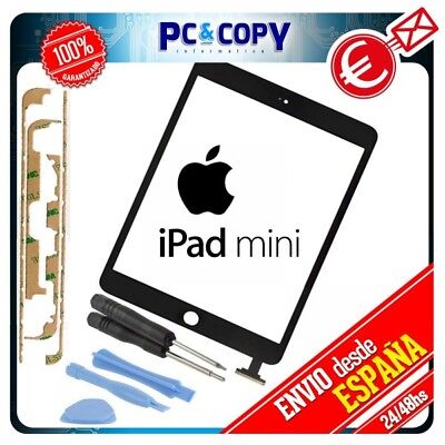 PANTALLA TACTIL IPAD MINI 1 y 2 NEGRO TOUCH SCREEN iPadmini + ADHESIVO Y HERRAMI