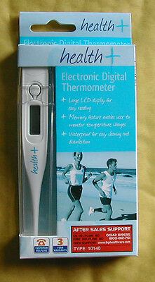 Health+ Electronic Digital LCD Thermometer with Battery. CE Approved.