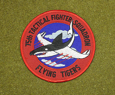 29384) Military Patch USAF 75th Tactical Fighter Squadron Flying Tigers Insignia
