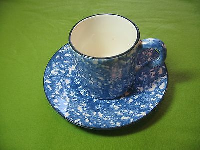 STANGL BLUE TOWN AND COUNTRY COFFEE CUP AND SAUCER