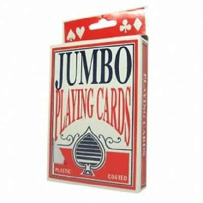 Jumbo Playing Cards, 5 x 3.5 Inch, Giant Size and Print