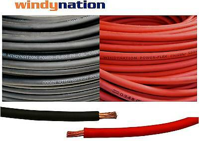 Welding Cable Red Black 2 AWG GAUGE COPPER WIRE BATTERY CAR SOLAR LEADS