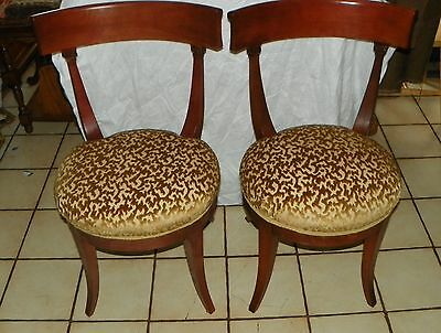 Pair of Retro Cherry Sidechairs / Parlor Chairs  (SC144)